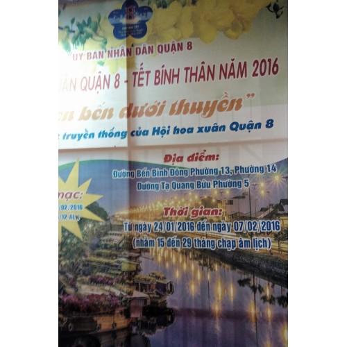 Hội hoa Xuân Tân Sửu năm 2021 Quận 8
