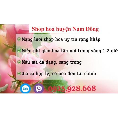 Đặt hoa huyện Nam Đông
