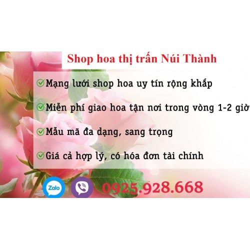 Đặt hoa shop hoa thị trấn Núi Thành