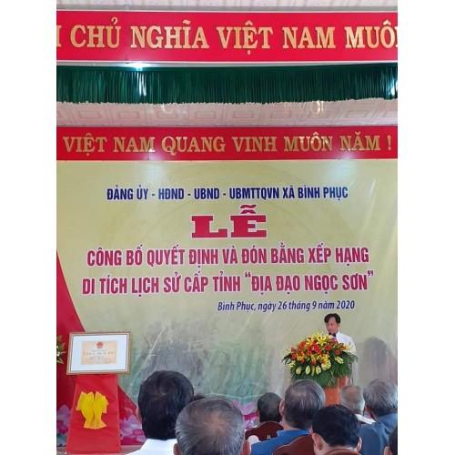 Địa đạo Ngọc Sơn, huyện Thăng Bình
