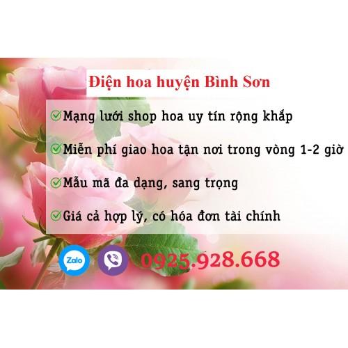 Đặt hoa thị trấn Châu Ổ - Bình Sơn