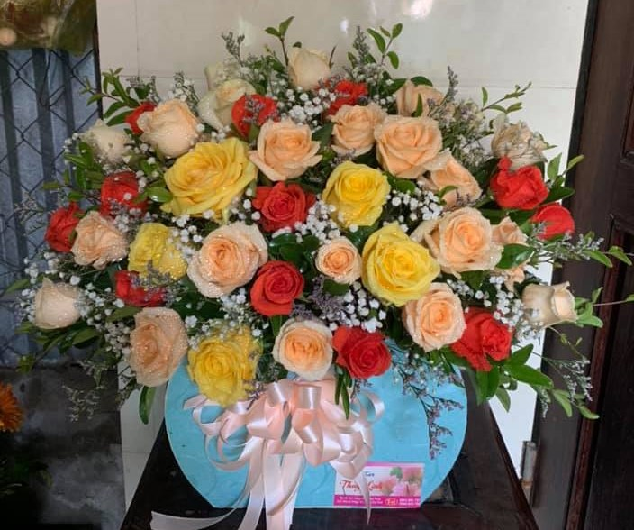Giỏ hoa mừng sinh nhật đẹp
