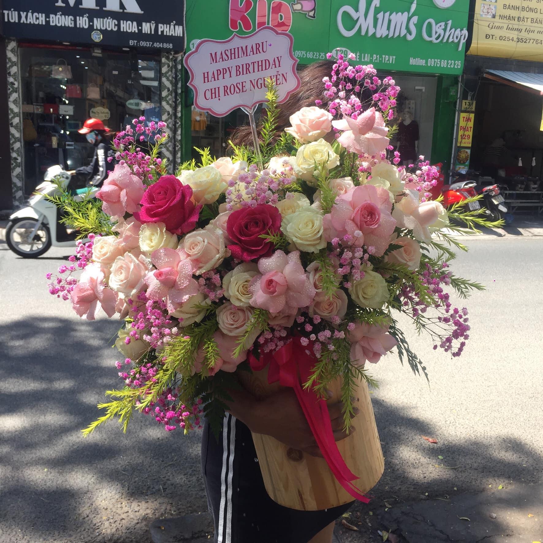 Giỏ hoa mừng sinh nhật Vũng Tàu