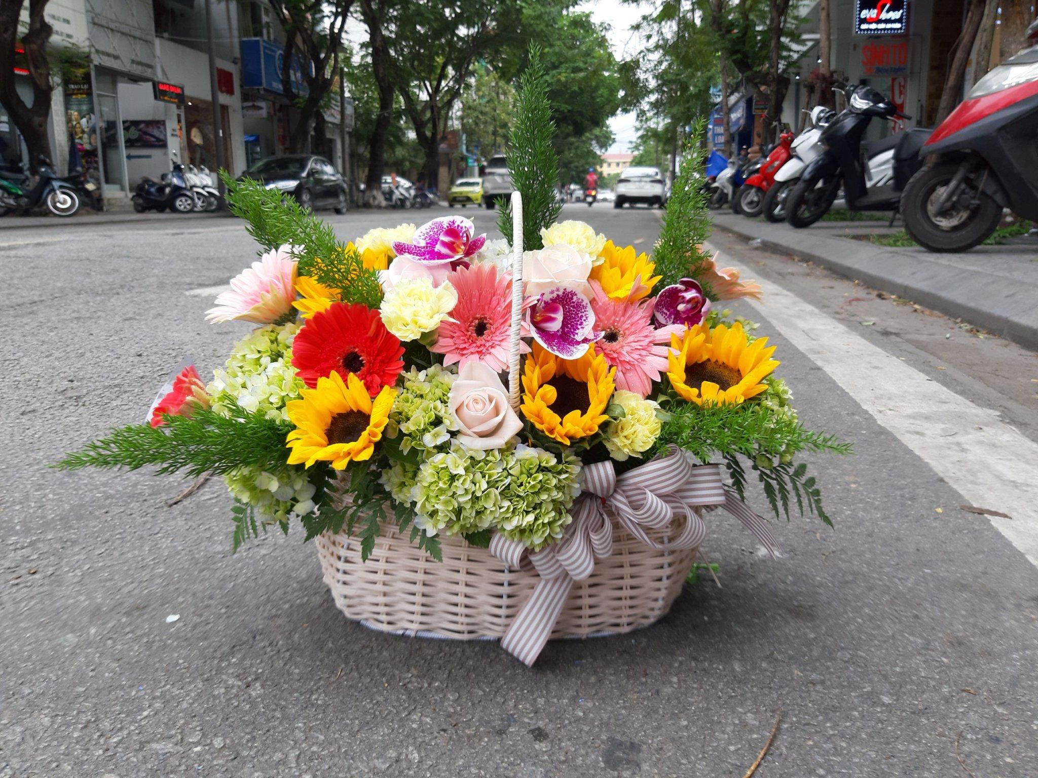 Hoa tươi mừng sinh nhật ở Huế