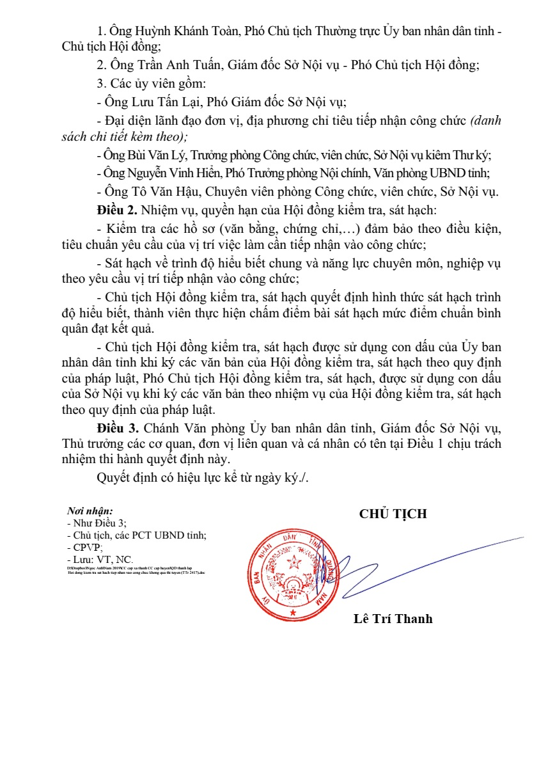 Quảng Nam tuyển công chức