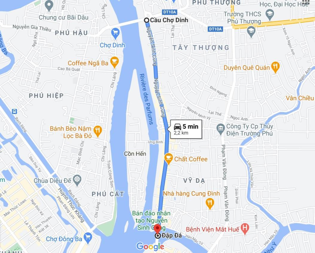Shop hoa đường Nguyễn Sinh Cung - Huế