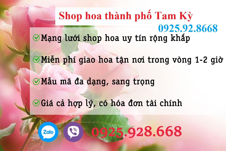 Shop hoa thành phố Tam Kỳ