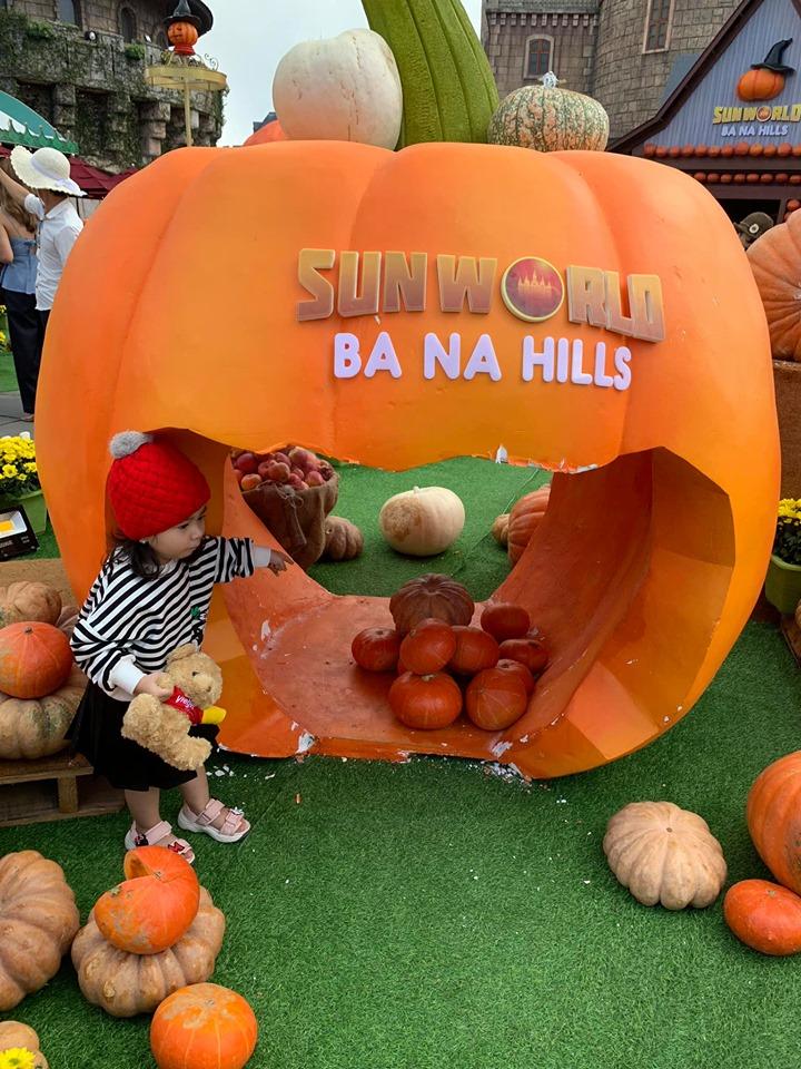 Quả bí ngô trong lễ hội Halloween ở Bà Nà Hills