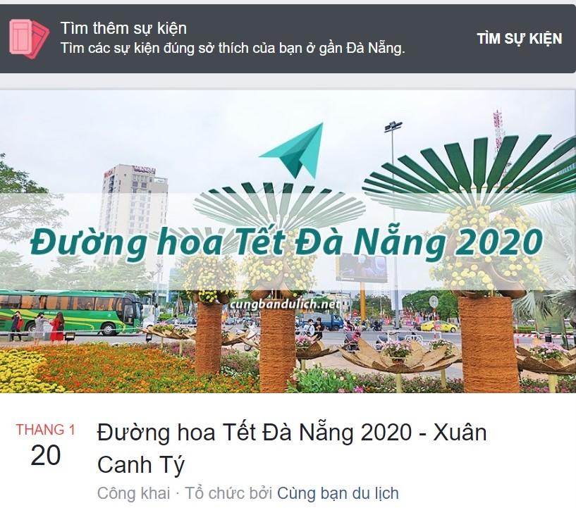 Đường hoa Tết Đà Nẵng năm 2020
