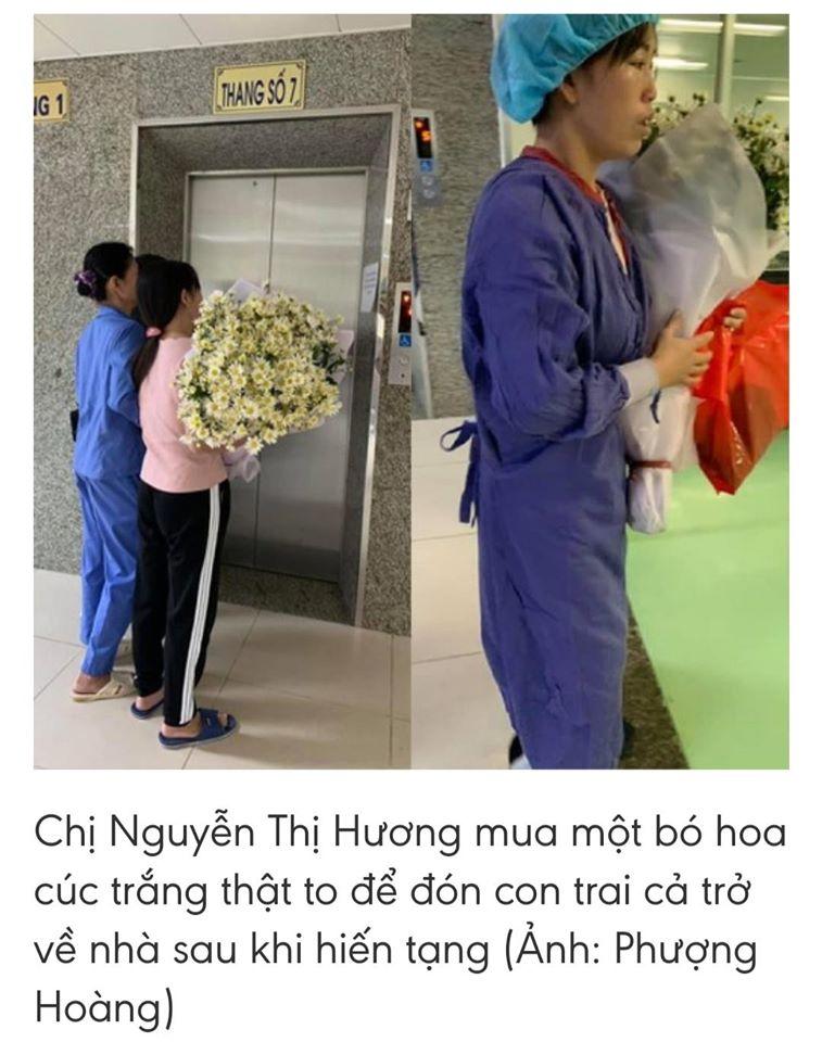 Hoa cúc trắng người mẹ tặng con trai hiến tạng