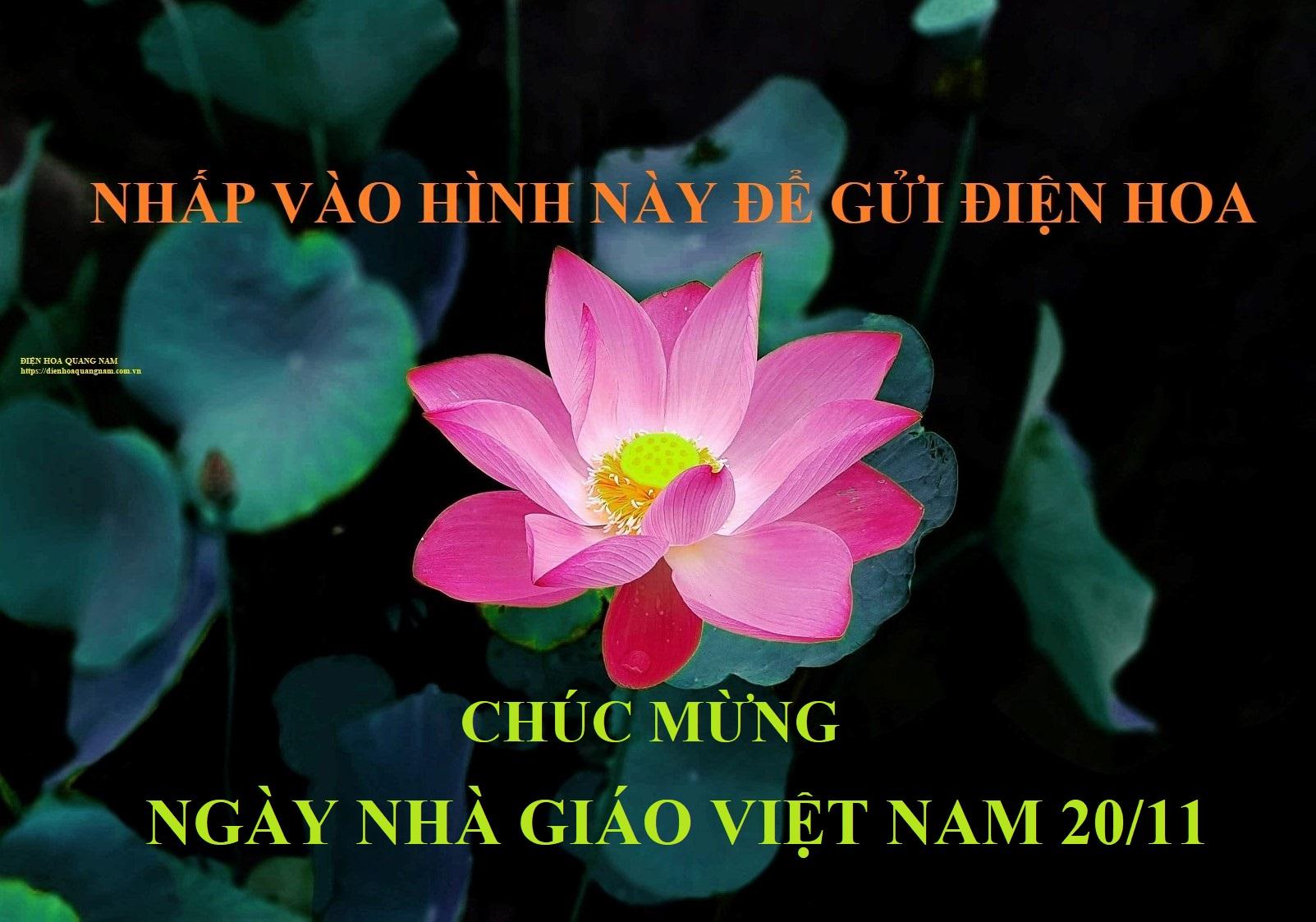 Đặt hoa mừng ngày nhà giáo Việt Nam
