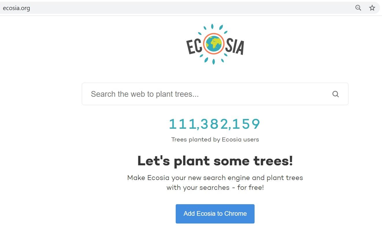Công cụ tìm kiếm Ecosia
