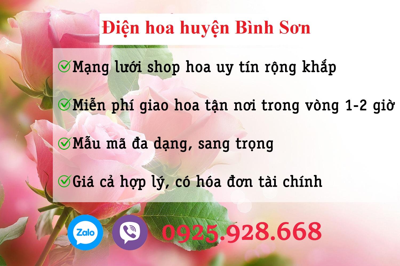 Shop hoa thị trấn Châu Ổ, huyện Bình Sơn