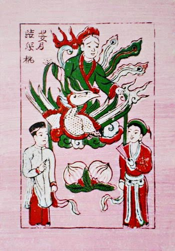Bà Nguyệt trong tranh dân gian Đông Hồ