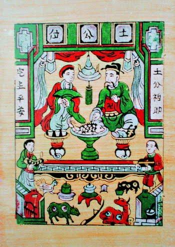 Ông Tơ bà Nguyệt trong tranh dân gian Đông Hồ