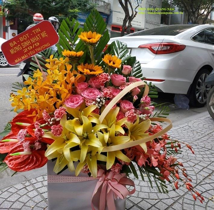 Tặng hoa sinh nhật mẹ